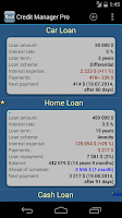 Screenshot of Credit Manager