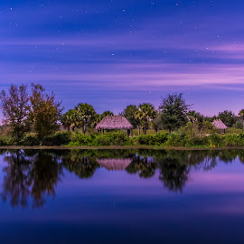 Dupree park at night by KC Chehab - Landscapes Prairies, Meadows & Fields ( night photography, landscape,  )