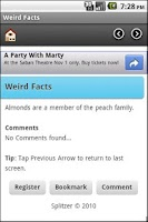 Screenshot of Weird Facts