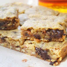 Bourbon Blondies with Pecans & Chocolate Chunks