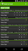 Screenshot of Tennis Livescore