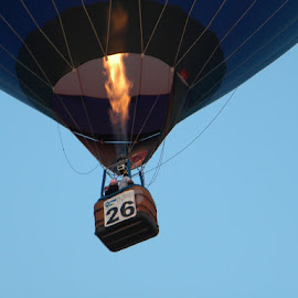 Time to Light It Up  by Greg Moore - Transportation Other ( blue balloon, light the burner, hot air balloon, #26, nice ride )