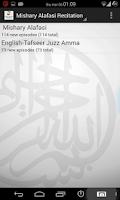 Screenshot of Alafasy Quran Recitation