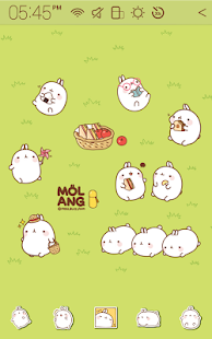 Molang Picnic Atom Theme - screenshot