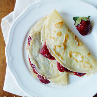 Strawberry Crepes #SundaySupper