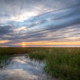 Sunset at Skaket Beach by Steve Morrison - Landscapes Sunsets & Sunrises