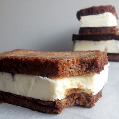Carrot Cake Ice Cream Sandwiches