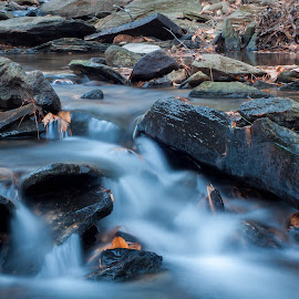 Water on the rocks by Sean Touton - Landscapes Waterscapes