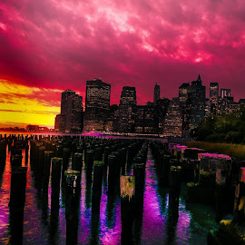 #iconic #memories #NYC #UandME #RZPRODUCTION #ART #EXPLORE by Raymond Zhuang - City,  Street & Park  Skylines