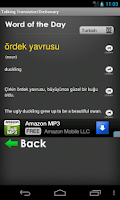 Screenshot of Turkish Translator/Dictionary