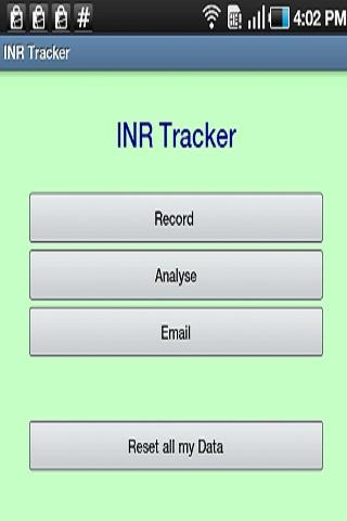 INR Tracker Warfarin log