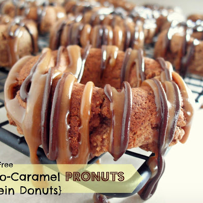 Chocolate Caramel Pronuts {Protein Donuts}