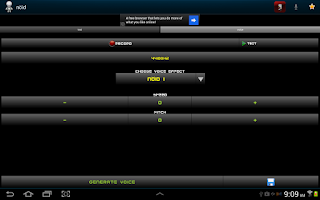 Screenshot of Voice Changer