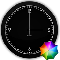 Fabian's Black clock widget icon