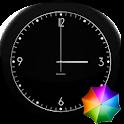 Fabian's Black clock widget icon