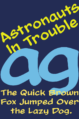 Astronauts In Trouble FlipFont