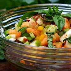Bright Fruit and Vegetable Salad (Rojak)