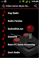 Screenshot of Video Game Music Radio