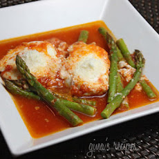 Eggs in Purgatory with Asparagus
