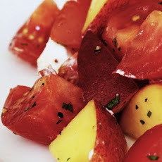 Tomato And Peach Salad With Goat Cheese Recipe