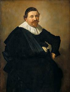 RIJKS: Frans Hals: Portrait of Lucas de Clercq 1635