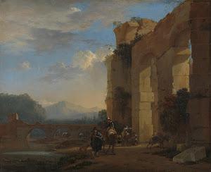 RIJKS: Jan Asselijn: Muleteers beside an Italian Ruin 1650