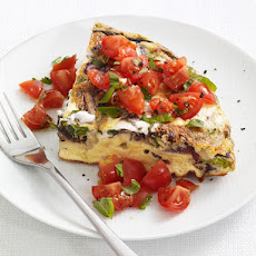 Ricotta Frittata With Tomato Salad