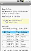 Screenshot of SQL Pro Quick Guide