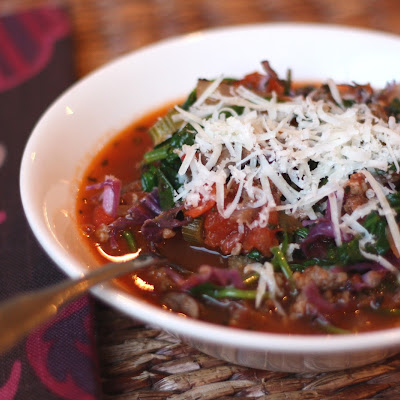 Italian Tomato Stew with Fennel, Mushrooms and Spinach