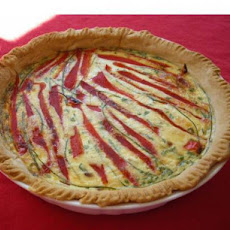 Roasted Red Pepper Quiche