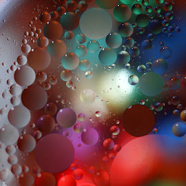 Oil & Water Colors by Janet Herman - Abstract Macro ( water, abstract, reflection, macro, colors, ellipses, oil )