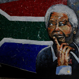 Nelson Mandela by Deep Sankar Ghosh - Painting All Painting