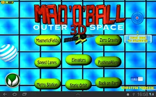 Screenshot of Mad O Ball 3D Outerspace Lite