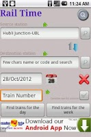 Screenshot of IndianRailway Offline TimeTabl