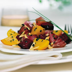 Beet Salad with Almonds and Chives