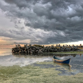 The Calm before the Storm  by George Nutulescu - Landscapes Beaches