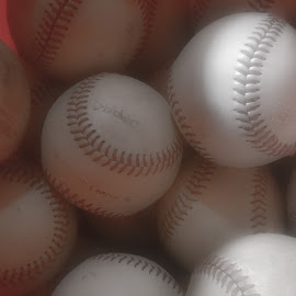 Play Ball by Tim Murphy - Sports & Fitness Baseball ( baseball, black and white, sports, windows phone 8, lumia 920, round, group, soft )