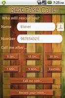 Screenshot of Best Fake Call