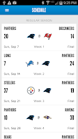 Screenshot of Carolina Panthers Mobile