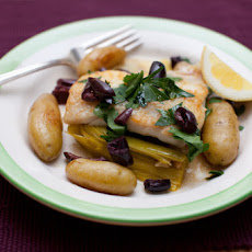 Haddock with Melted Leeks & Fingerling Potatoes