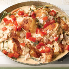 Chicken with Creamy Roasted Poblanos