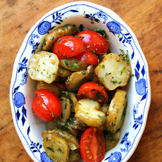 Roasted Sunchokes with Thyme, Grape Tomatoes and Lemon