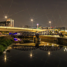 Sparkly Canal Olympic Park by Nachau Kirwan - City,  Street & Park  City Parks ( lights, water, canals, night photography, light,  )