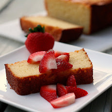 Ricotta Lemon Pound Cake with Strawberries