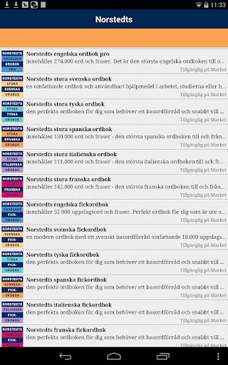 Norstedts stora spanska ordbok - screenshot