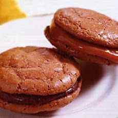 Chocolate Macaroons with Chocolate or Caramel Filling
