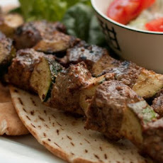 Spicy Lamb Shish Kebabs With Greek Pita Bread