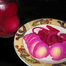 Tickled Pink Pickled Eggs or Pretty in Pink Pickled Eggs