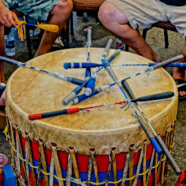 Heartbeat of Life by Barbara Brock - Artistic Objects Musical Instruments ( pow wow drum, american indian, pow wow, native american )