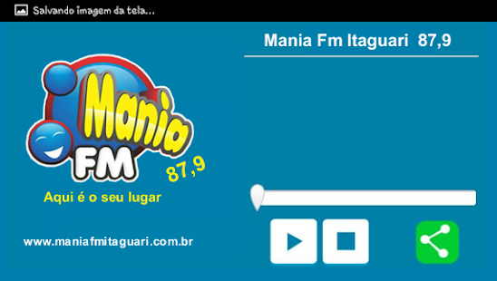 Mania Fm Itaguari 87,9 - screenshot